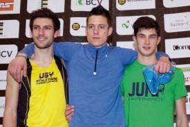 Le podium final: Alen Melon, devant Loïc Gasch et Stefano Sottile. © Champi