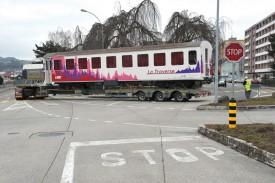 Le transport entre Yverdon-les-Bains et Sainte-Croix s'est avéré spectaculaire. © Michel Duperrex