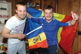 Cosmin Stanilà (à g.) et Edward Constantin fondent de gros espoirs en leur équipe nationale. © Michel Duperrex