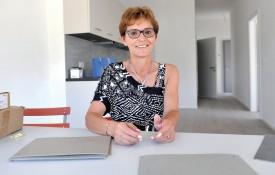 Jovanka Favre se réjouit de voir se dessiner l'immeuble pour lequel elle s'est beaucoup investie. Michel Duperrex