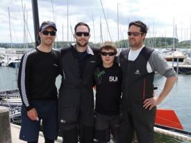 Les quatre membres de l'équipage victorieux. © Christiane Baudraz