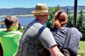 Le trajet proposait une vue imprenable sur le lac de Joux. @Pierre Blanchard