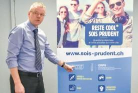Le préfet du district Jura - Nord vaudois Etienne Roy présente les différentes mesures de prévention. © Pierre Blanchard