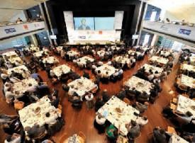 Depuis 2011, le Forum économique affiche chaque année complet (ici l'édition 2013), avec 550 inscrits. © Duperrex -a
