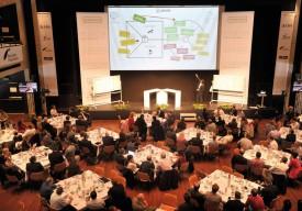 La salle de La Marive affichait complet, hier, pour la dixième édition du Forum économique du Nord vaudois, devenu, depuis cette année, le Forum économique romand. © Michel Duperrex