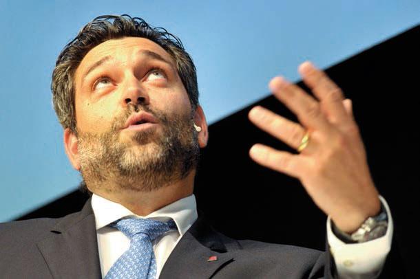 Lorenzo Stoll, le directeur général de la compagnie aérienne Swiss pour la Suisse romande. © Michel Duperrex