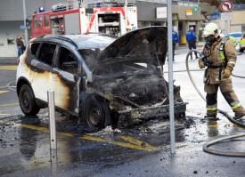 Le sinistre a rapidement pu être maîtrisé par les représentants du service du feu. © Muriset