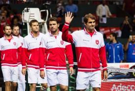 L'équipe suisse de Coupe Davis. © Genoux -a