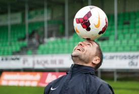 Yverdon Sport accueille Fribourg, samedi, au Stade Municipal (coup d'envoi à 17h30). Sorti sur blessure lors du dernier match, David Jimenez espère être opérationnel. © Simon Gabioud