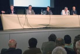 De g. à dr.: Henri Germond, Claude Recordon, Laure Pingoud, Loris Koenig, Luiz De Sousa. © Pierre Blanchard