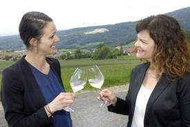 Carole Matthey et Astrid Goël: après l'effort, le réconfort. © Michel Duperrex