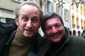 François Menna a profité d'une pause pour se faire photographier avec le comédien Benoît Poelvoorde. DR