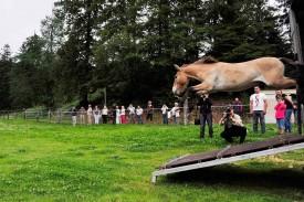 Un beau saut en longueur.