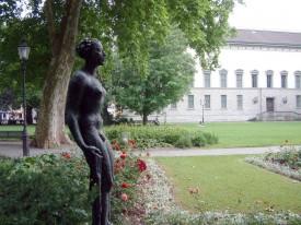 Dans le parc du Musée abritant la collection Oskar Reinhart et ses tableaux de grands maîtres.