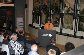 Anne-Catherine Lyon et un parterre de personnalités politiques yverdonnoises ont accueilli les étudiants lundi soir.