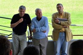 Bernard Mouthon, à droite, alors annoncé comme directeur sportif d'Yverdon Sport.