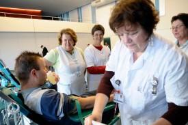 Une unité mobile du service de transfusion était présente hier à Grandson.
