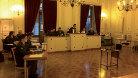 L''appareil judiciaire de l'armée est déployé au deuxième étage de l'Hôtel de Ville d'Yverdon-les-Bains ©PHV