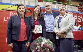 Le ticket rose-vert sera composé de Nuria Gorrite, Cesla Amarelle, Pierre-Yves Maillard et Béatrice Métraux. ©Simon Gabioud