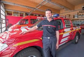 Jan Eisler, à la caserne de Sainte-Croix, a rejoint les pompiers en 1999. ©Muriel Aubert