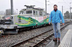 Yvan Pahud espère que le Canton participera financièrement pour maintenir le fret ferroviaire. ©Michel Duperrex