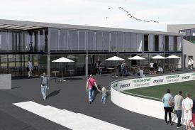 L'actuel restaurant sera modernisé et des loges VIP seront créées. ©Gilliéron