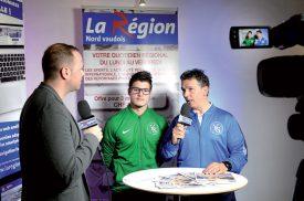 Chaque soir, La Région Nord vaudois, interviewe un invité sur l'actualité. Première avec Florian Gudit (joueur) et Philippe Demarque (entraîneur), d'Yverdon Sport. ©Michel Duperrex