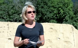 La conseillère d'Etat en charge du Département du territoire et de l'environnement, Jacqueline de Quattro, n'exclut pas d'autres aménagements de ce type ailleurs dans le canton. ©Michel Duperrex