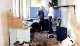 Françoise et Franco Rossi avait rénové leur immeuble en 2014, mais lorsqu'ils l'ont retrouvé en 2017, ils ont pu tout recommencer. ©Michel Duvoisin