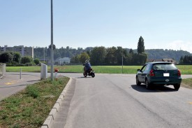 Le projet prévoit l'élargissement de Graveline et sa prolongation en direction d'Y-Parc, avec un passage sous les voies ferrées. ©Michel Duperrex