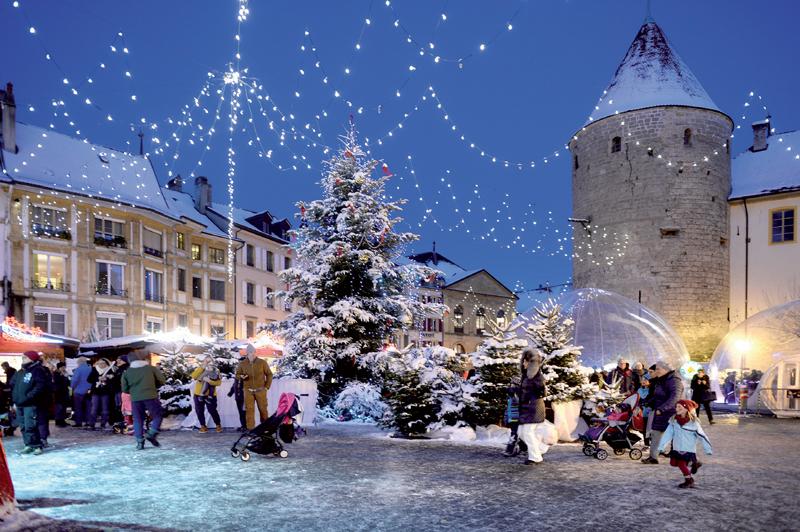 150 sapins et une forêt enchantée pour les petits au centre-ville d'Yverdon pour Noël