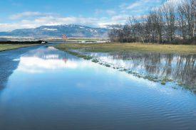 Sur la route entre Ependes et Mathod, la prudence est de mise. ©Michel Duperrex / Com.