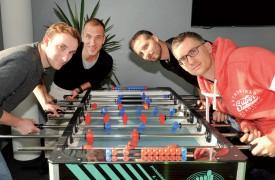 De g. À dr.: Julien Rinaldini, Laurent Balmelli, Pascal Junod et Johan Werhli (manque Gaël Jobin) forment une équipe difficile à battre. ©Michel Duperrex