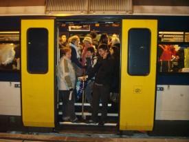 Les trains régionaux avaient des allures de métro moscovite!
