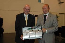 L'administateur délégué Raoul Sautebin et Stefan Müller, président du conseil d'administration, ont le sourire.