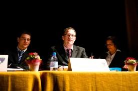 Le comité (ici Christophe Gatabin, Olivier Bolomey et Géraldine Gaudard) avait de bonnes nouvelles à donner aux Jeunesses du Nord!