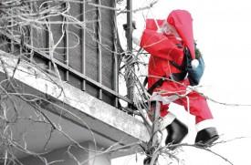 Mathod, 9 février, 10h43. Le Père Noël n'a toujours pas regagné Rovaniemi en Laponie. © Michel Duperrex
