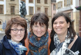 De g à dr: Silvia Richard-Ferrari, Sylvie Perret et Sonia Celii Jotterand sont les trois enseignantes actives dans le Nord vaudois. Deux de leurs collègues officient à la vallée de Joux. © Michel Duperrex