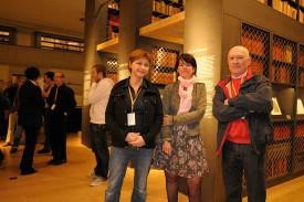 Scilla Valsangiacomo, présidente du festival, Nathalie Saugy, municipale et Jean-Philippe Epitaux, durant la cérémonie d'ouverture.