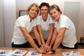 De gauche à droite Claire Salzmann, Sandra Bonvin et Isabelle Carrupt.