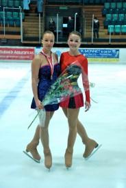 Déborah Pisa (à g.) et Laura Junod l'hiver dernier, à Malley, lors des Championnats suisses juniors 2010, où elles avaient terminé respectivement deuxième et septième.