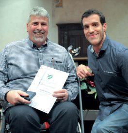 Club en fauteuil roulant du Nord vaudois: Jean-François Nicolet et Laurent Jäggi (président). ©Carole Alkabes