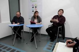 De gauche à droite, Michel Brouard, Birgit Knegtel et Dario Capraro forment le «comité de lancement» de Jenova.