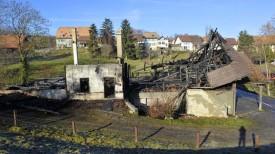 La salle d'Orzens a complètement été détruite, le 16 décembre.