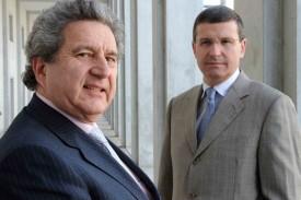 Christophe Reymond (à d.), directeur du Centre patronal, ici avec le président Dino Venezia, est très satisfait de l'aboutissement du référendum.