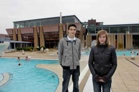 Loïc Gasch et Elodie Jakob réunis au Centre thermal. L'avenir de l'USY.