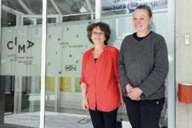 Maria Caramia, responsable du CIMA, et Séverine Gueissaz, membre de la fondation. © Michel Duvoisin