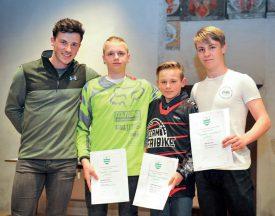 BMX Club Nord vaudois: Romain Tanniger, Simon Jaquemet, Damien Chatagny et Julien Rolle. ©Carole Alkabes