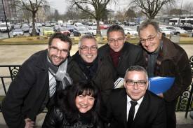 La commission «Place d'Arme» du PLRY. (Devant de g à d.) Valérie Jaggi Wepf, Yvan Schick, (derrière de g à d.) Laurent Bertschi, Serge Lovey, Johann Gilliéron, Jean-Marie Pittet.