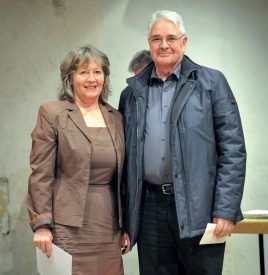 La Cécilienne: Christine Burkhalter et Pierre Gogniat (président). ©Carole Alkabes